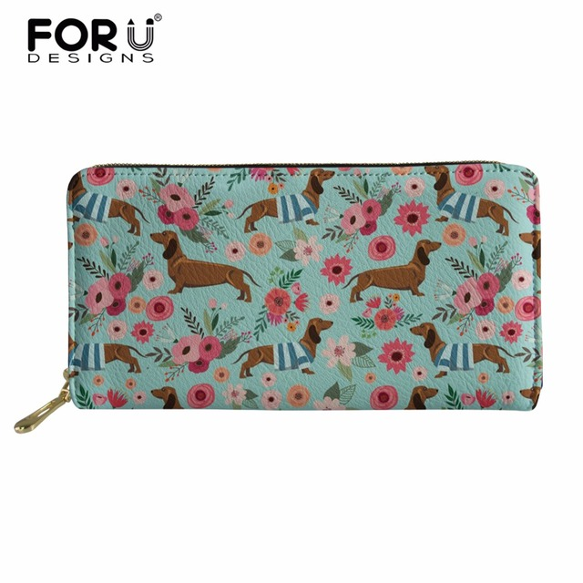 b90c823b7a FORUDESIGNS Women Wallets Lady Purse Long Wallet Dachshund Prints Purses  Fashion Female Women Clutch With Card Holder Money B