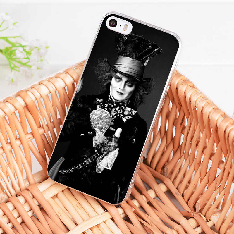 MaiYaCa Alice In Wonderland Johnny Depp Painted cover phone Case for Apple iPhone 8 7 6 6S Plus X 5 5S SE XS XR XSMAX