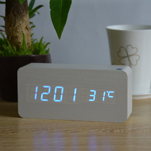 Image 5 - FiBiSonic Alarm Clocks with Thermometer ,Wood Wooden Led clocks, Digital Table Clock,Electronic Clocks With Cost