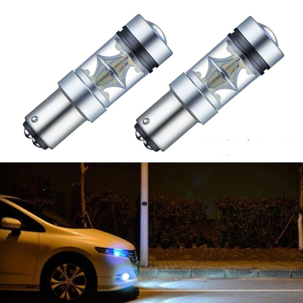 Skuer 2x Auto 1157 BAY15D P21W 7506 CREE Chips 100W 6000K Car LED Backup Reverse Socket Tail Light Turning Parking DRL