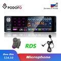 Автомагнитола Podofo, 1 Din, сенсорный экран 4,1 дюйма, Bluetooth, RDS, AUX, MP5