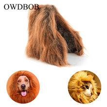 4e5b11331 OWDBOB Pet Cat Dog Emulation Lion Hair Mane Ears Wig Cap Autumn Winter Dress  Up Costume Cat Party Halloween Cosplay Xmas Clothes