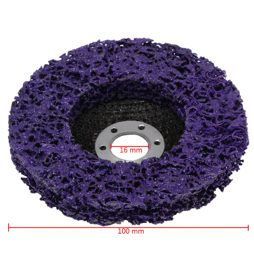 Purple Poly Strip Disc Wheel Paint Rust Removal Clean Angle Grinder 100*16mm HI