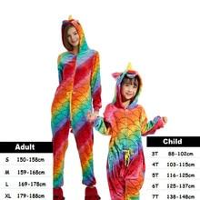 Kids Adult Women Kigurumi Unicorn Pajamas Animal Anime Cosplay Costume Onepiece Child Boys Girls Baby Jumpsuit Halloween Onesie