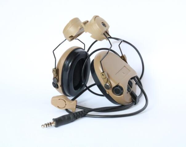 TAC-SKY SORDIN Helmet Fast Rail Bracket Silicone Earmuff Version Noise Reduction Pickup Headset-DE