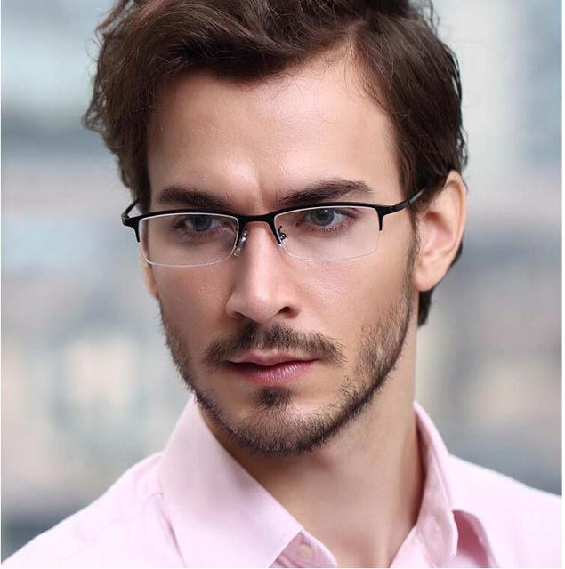 Brand design titanium optical media marco de calidad estupenda anteojos gafas hombres vidrios ópticos de miopía gafas