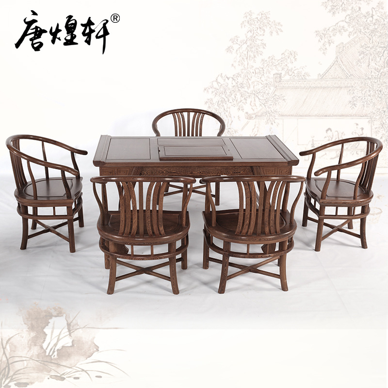 Rosewood Furniture Wood Chinese Style Tea Table Log Kung Fu Tea Table Tea Table Of Antique Ming And Qing Wooden Tea Tables And C