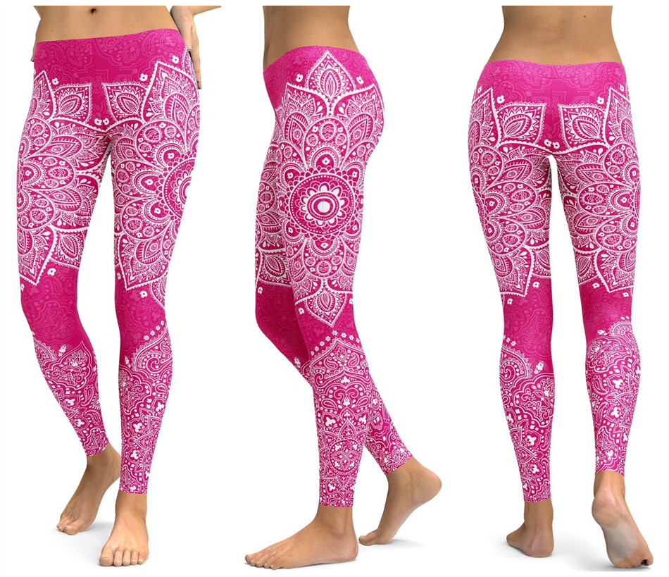 Print Yoga Pants Women Unique Fitness Leggings Workout Sports Running Leggings Sexy Push Up Gym Wear Elastic Slim Pants 19