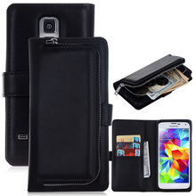 2 in 1 Detachable Leather Zipper Wallet Case For Samsung GalaxyS5,S6 S6 Edge,S7,S7 Edge. Multifunction Handbag Phone Cases