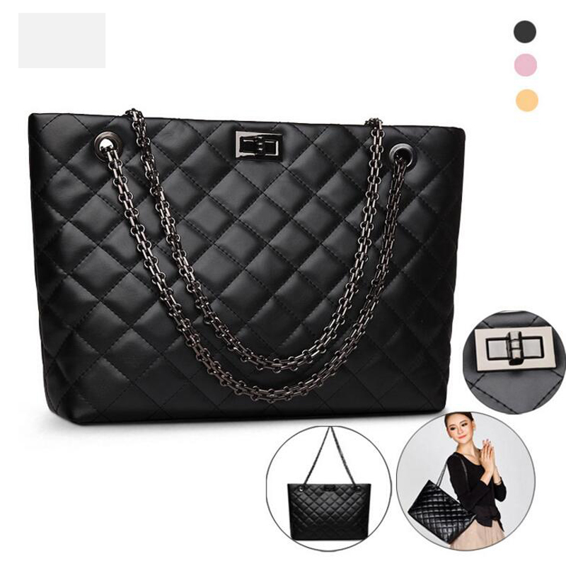 ФОТО Fashion Leather Women Shoulder Bag Black Handbag Cross Pattern Women Bags 2016 Designer Handbags High Quality Bolsa Feminina