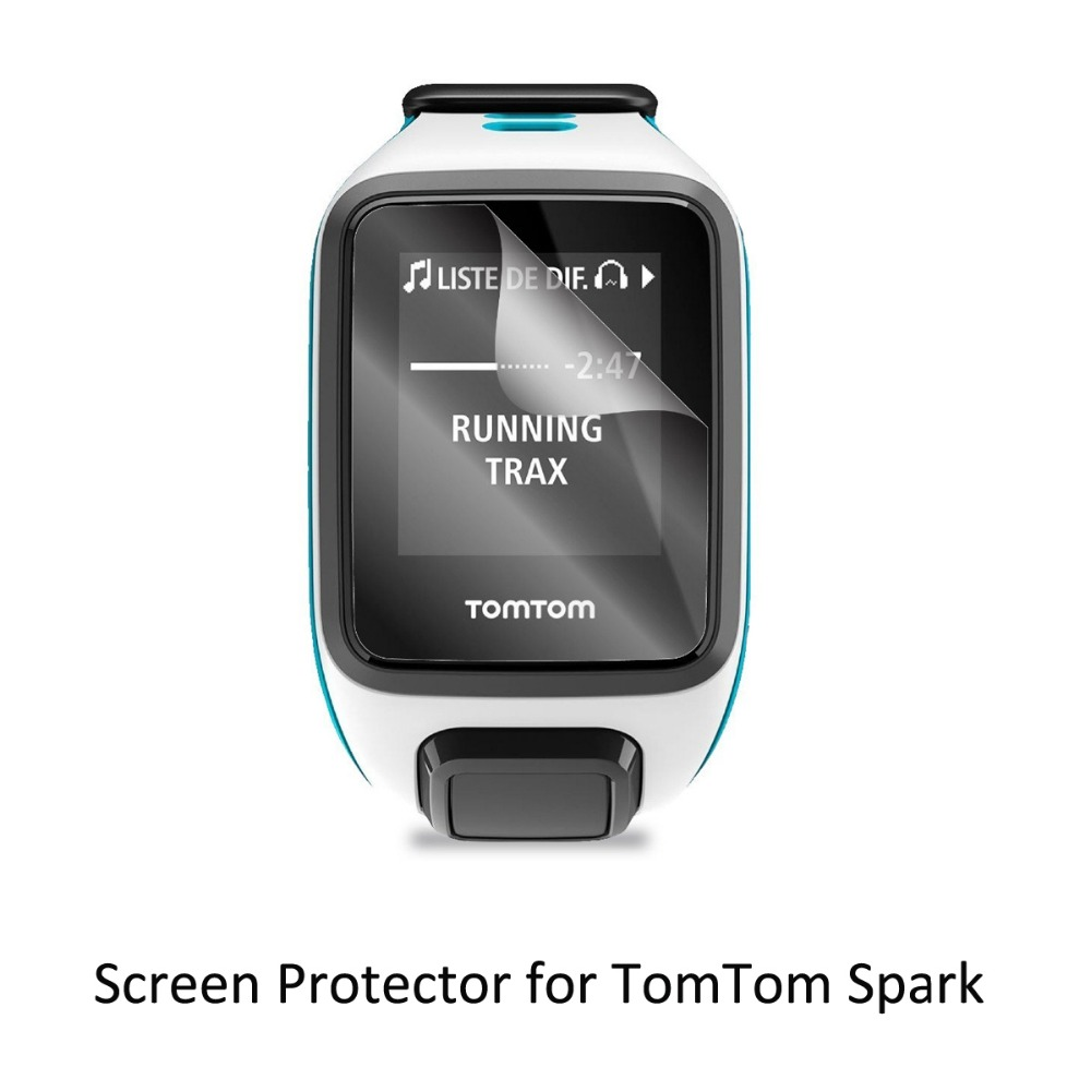 3 Clear LCD PET Film Anti Scratch Screen Protector Cover for Tom Tom TomTom Spark Spark