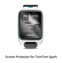 3* Clear LCD PET Film Anti-Scratch Screen Protector Cover for TomTom Tom Tom Spark