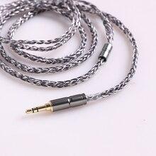 BGVP 6N 8 Core 400 провода посеребренный OCC 2,5 мм/3,5 мм MMCX кабель наушников Audiophile балансировочный кабель для Shure SE846 SE215