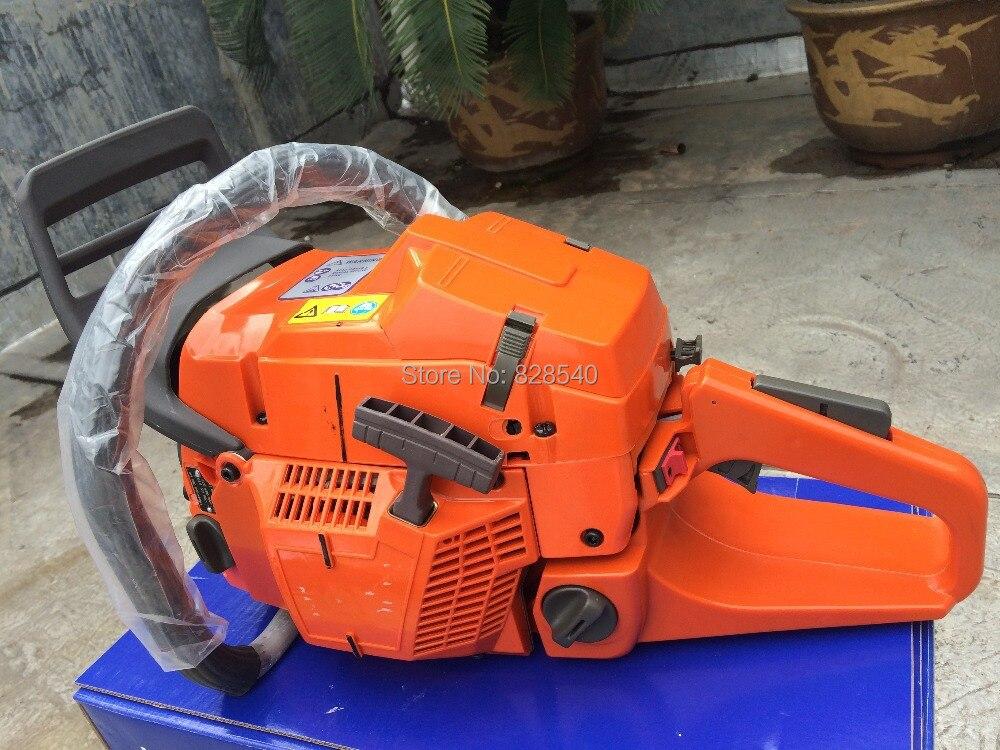Sierra de cadena de gasolina profesional HUS365, sierra de cadena 65CC 3.4kw, motosierra de alta resistencia con venta de fábrica de hoja de 20