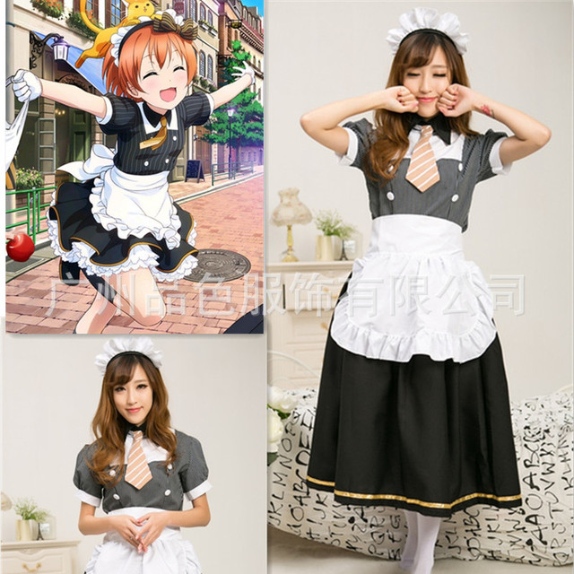 New lovelive cosplay lovelive uniform lolita maid costume anime maid cosplay halloween costumes for women performance  sc 1 st  AliExpress.com & New lovelive cosplay lovelive uniform lolita maid costume anime maid ...