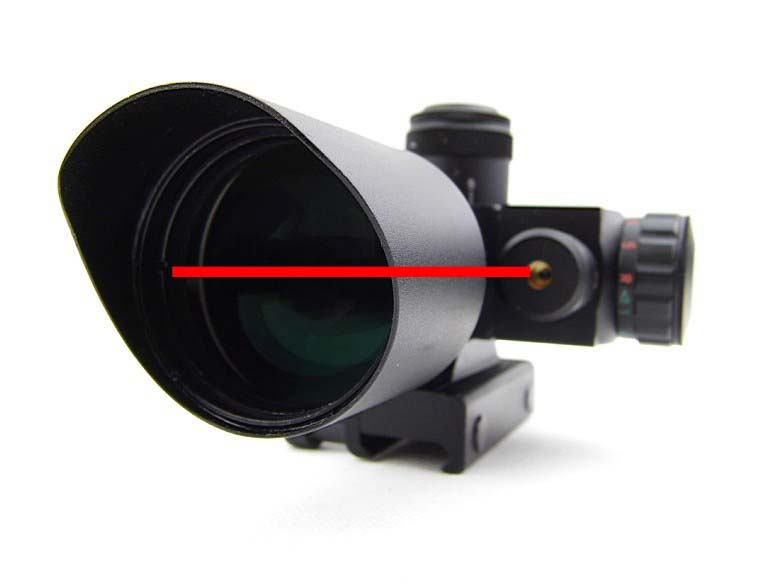 Tactical Pro Mini Red & Green Dot Illuminated 2.5-10x40 Hunting Red Laser Sight Rifle Scope For Airsoft Paintball Guns & Weapons 3 10x42 red laser m9b tactical rifle scope red green mil dot reticle with side mounted red laser guaranteed 100%