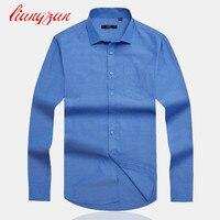 Men Cotton Dress Shirts Brand Design Plus Size S 4XL Slim Fit Autumn Spring Long Sleeve