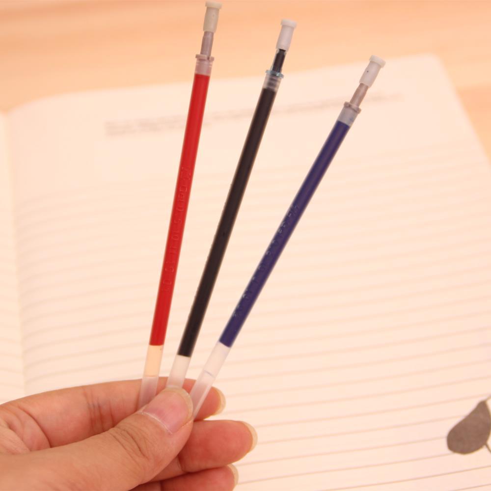 100 шт./лот Корейской версии Гелевая Ручка Refill Оптовая Пуля Стиль Черный Синий Красный Канцелярские Заправки