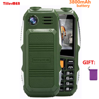 Big Battery 3800mAh Phone Dual Sim GSM Dustproof Shockproof Cell Phone Big Torch Speaker Senior Elder