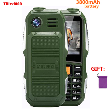 Batería grande 3800mAh teléfono Dual sim GSM a prueba de polvo a prueba de golpes gran altavoz con linterna Senior teléfono móvil para mayores Rusia SOS|phone dual sim|big battery|dual sim -