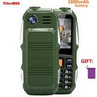 Big Battery 3800mAh Phone Dual Sim GSM Dustproof Shockproof Cell Phone Big Torch Speaker Senior Elder