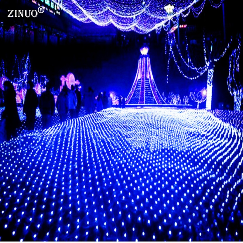 ZINUO 8 Flash Mode 220V 3M*2 M 200Leds Waterproof LED Net Fairy String Lights Outdoor lamp For Home Garden Christmas Wedding