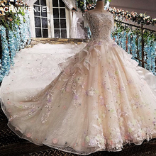 2018 Vestido De Noiva Luxury Ball Gown Wedding Dress