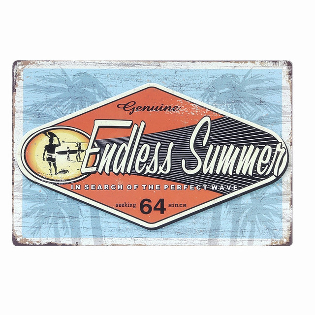 f20b902177e4 Endless Summer Retro Plaque Metal Signs BAR Pub Home Decor Metal Painting  Wall Stickers Decoration Coffee Plates for Artist N093