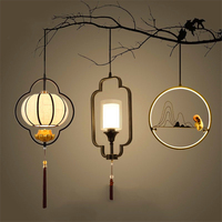 Chinese Vintage LED Chandelier Lighting Hall Dining Hall Corridor Restaurant Lustres Hanging Lamp Decor Maison Kitchen Fixtures
