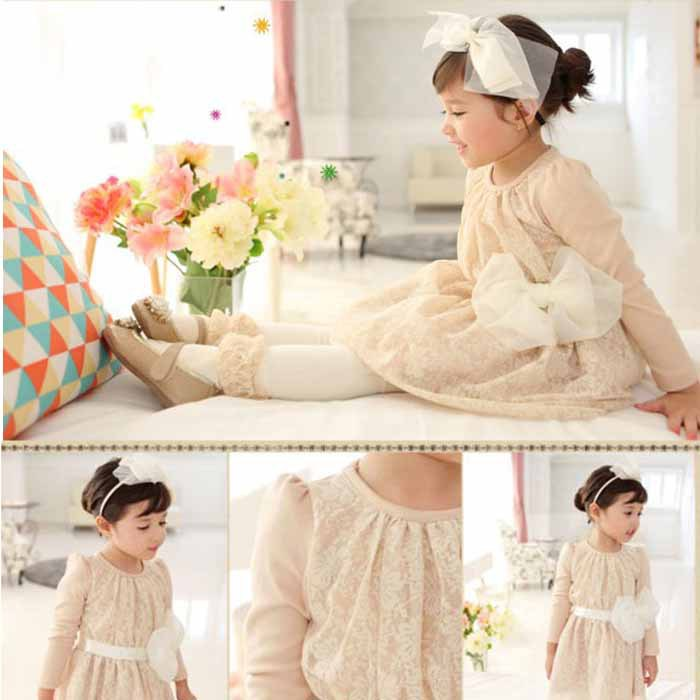 clearance Baby girls lace dress spring autumn children