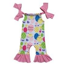 3377f831b93 Valentines Easter Spring Infant clothes silk milk Jumpsuit Baby St. Patrick  shamrock off shoulder Romper Green Clover baby gowns