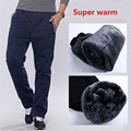 Winter Cotton Fleece Thicken Men's casual Pants Heavyweight Men's Trousers Winter Warm Slim Fitted Casual Active Sweatpants 3XL