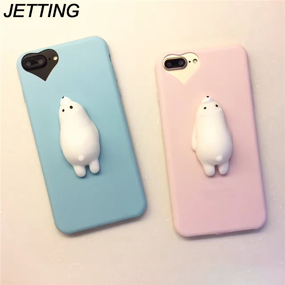 Squishy Bread Iphone 6 Case : Cute Cat Squishy Silicone Seal Phone Case For iphone 6 6s plus Squishy Soft Housing Case blando ...