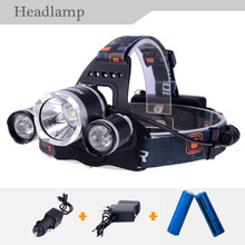 Finest Selling CREE XM-L T6 Headlamp Head Lantern Head Flashlight for Hiking Hunting Climbing with 2 *18650Batteries & Charger