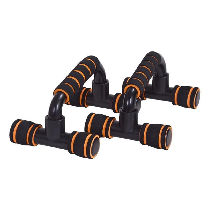 Spor ve Eğlence'ten Çekmeli Standlar'de 1 çift plastik H şeklinde spor Push up braketi kol kas gücü eğitmen ekipmanları göğüs genişletici ekipmanı title=