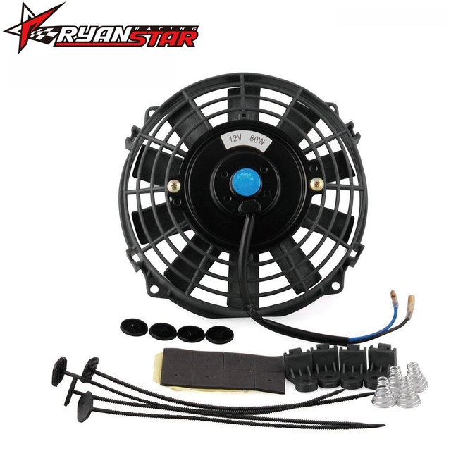 Ryanstar High Quality 7 Inch 12v Electric Cooling Radiator Fan Kit For Universal Car Cf001
