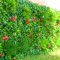 Outdoor Artificial Green Walls Leaves Fence 1x1m UV Proof DIY Vertical Garden Wall IVY Panels Screen Backyards Decorations