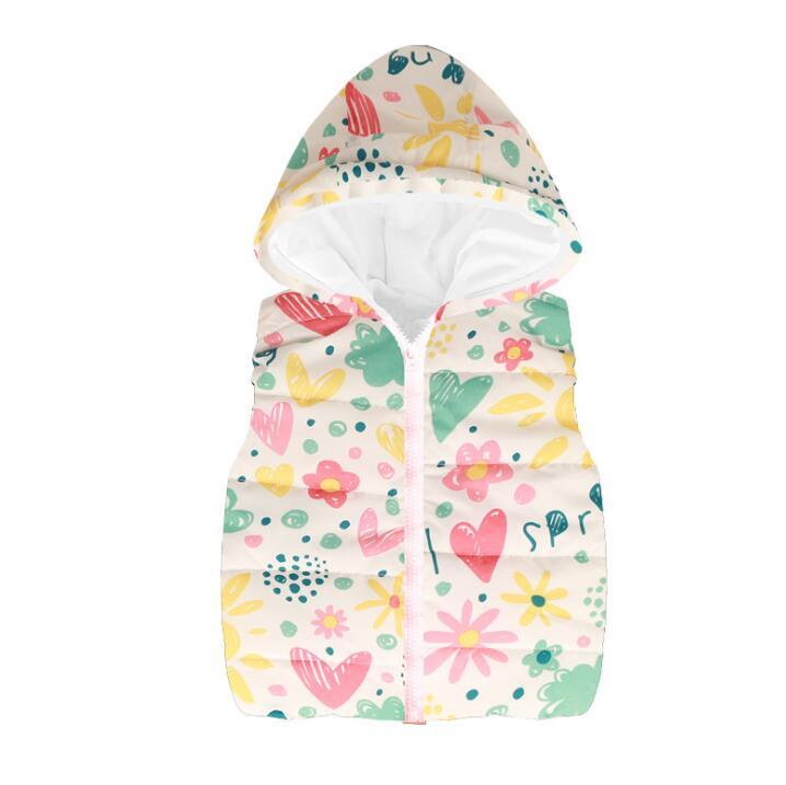 New 2019 cotton vest kids for girls boys autumn winter outwear sleeveless jacket children high quality cartoon Mickey style top