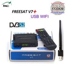 SATXTRTEM Freesat V7 HD Satellite Récepteur Full1080P avec USB WiFi DVB-S2 récepteur satellite soutien 1/5 lignes cccam Espagne offre