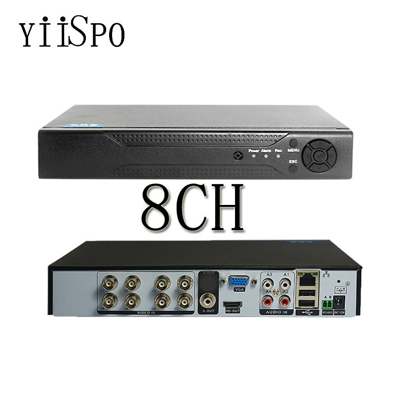 ФОТО YiiSPO 8CH AHD DVR 2.0MP DVR/1080P NVR Video Recorder HDMI Output Support iPhone Android Phone Remote View NO HDD ONVIF NETWORK