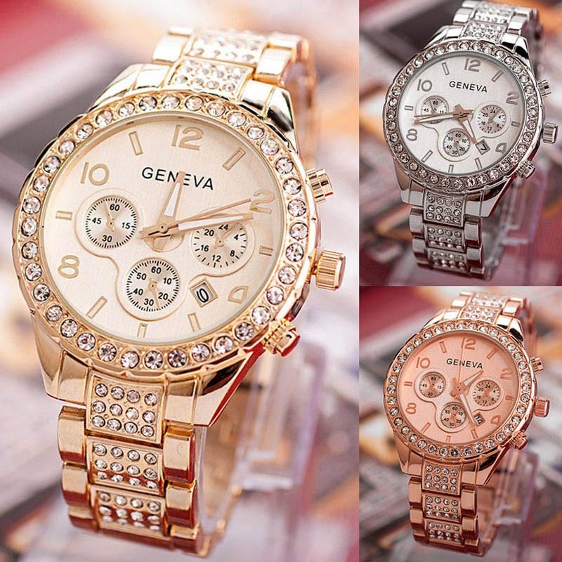 2020 Fashion Brand ladies Geneva Women Fashion Luxury Crystal Quartz Watch  dropshipping