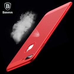 Baseus Souffle Téléphone Cas Pour iPhone 7 6 6 s De Luxe Mince Mince Coque Fundas Dur PC Couverture de Cas Pour l'iphone 7 6 s 6 Plus Capinhas