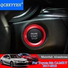 QCBXYYXH Car Styling Aluminum Ignition Switch Cover For Toyota 86 Camry Corolla Vios Reiz RAV4 CHR