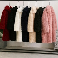 Long Fur Coat Faux Fur Coat Harajuku Korean Black Pink Fashion Streetwear Cardigan Outerwear Teddy Coat Furry Shaggy Jacket
