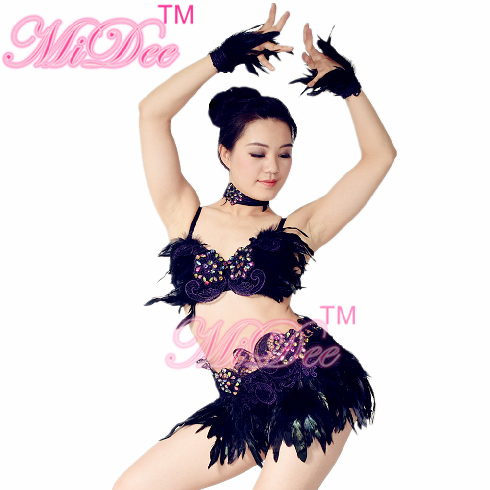 24f92298de486 Best Seller Sexy Women Belly Pole Dancing Dress Enthusiast Night Club  Costumes Salsa Rumba Dance Costumes