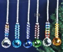 Rainbow Maker Crystal Ball Pendant Chandelier Prisms, Hanging Drop Sun-catcher Nautical Fengshui Wedding Home Party Decor