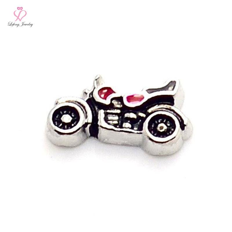 hot selling cool Motorcycle floating charms for living glass memory glass lockets FC152