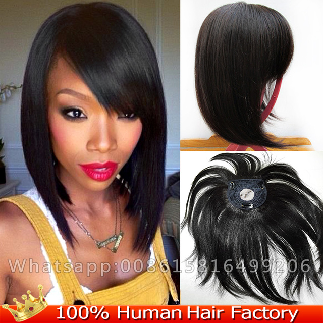 1314cm Human Real Hair Toupee Clip In Hair Extensions 12 Top Piece