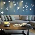 Estrelas espelho Criativo Arte Removíveis Adesivos de Parede Oca Fora Do Quarto Home Decor