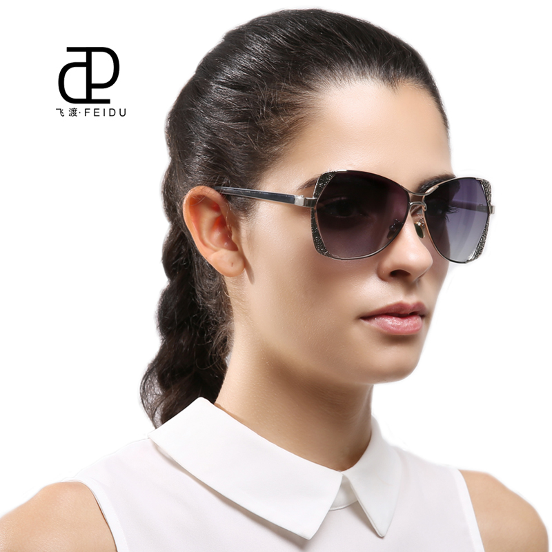 2f439ee22ce FEIDU Fashion Polarized Sunglasses Women Alloy Pattern Frame Retro Coating  Mirror Glasses Female Oculos De Sol